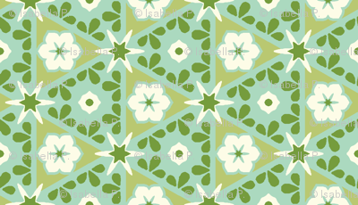Pyramid Floral - Victorian Green