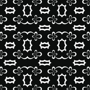 Black and White Floral Kaleidoscope