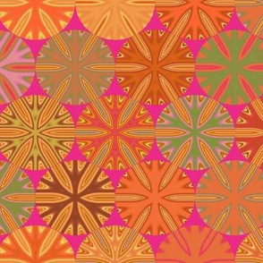 Citrus Slices Geometric  on Pink large