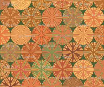 Citrus Slices Geometric on Green small