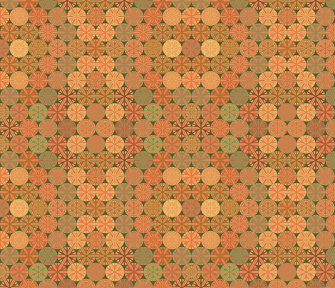 Citrus Slices Geometric on Green small  fabric by gingezel on Spoonflower - custom fabric