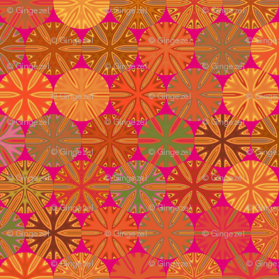 Citrus Slices Geometric  on Pink small