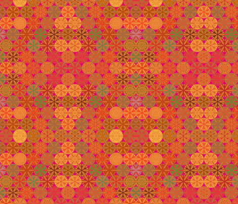 Citrus Slices Geometric  on Pink small  fabric by gingezel on Spoonflower - custom fabric