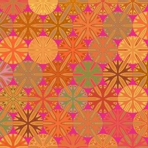 Citrus Slices Geometric  on pink small © Gingezel™Inc.