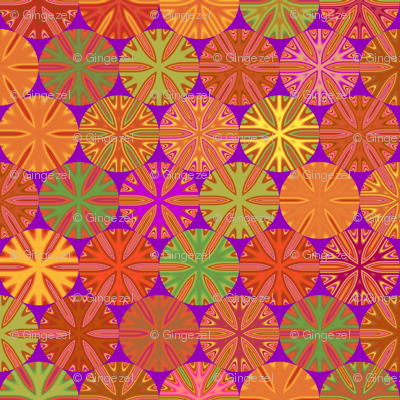 Citrus Slices Geometric in Purple small