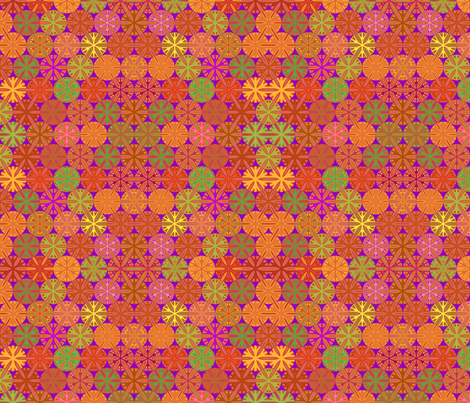 Citrus Slices Geometric in Purple small  fabric by gingezel on Spoonflower - custom fabric
