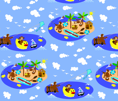 Monkey Island / baby_boy fabric by paragonstudios on Spoonflower - custom fabric