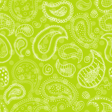 Lime-icious Paisleys fabric by saraink on Spoonflower - custom fabric