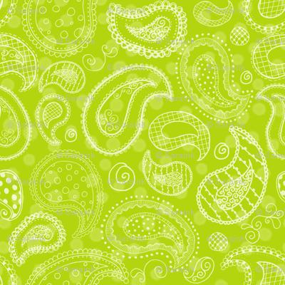 Lime-icious Paisleys