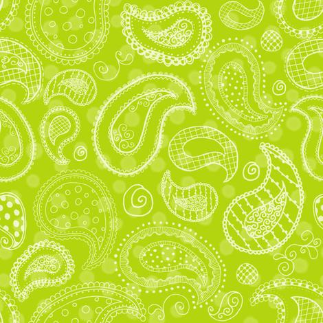 Lime-icious Paisleys fabric by saraink on Spoonflower - custom fabric