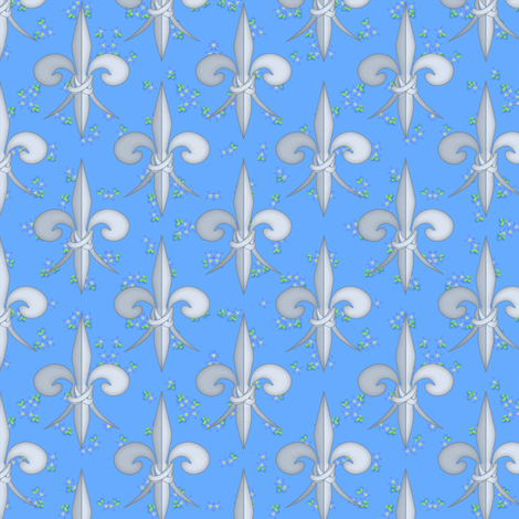 ©2011 fleurdelis 102 fabric by glimmericks on Spoonflower - custom fabric