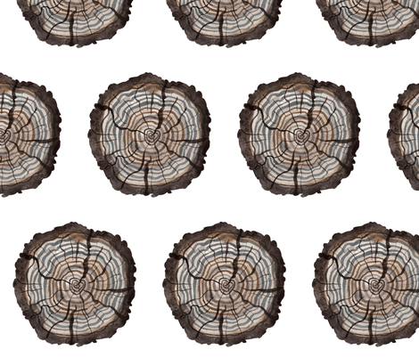 Logs -Woodland Collection fabric by gollybard on Spoonflower - custom fabric