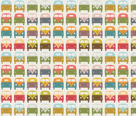 VW_Bus1 fabric by sarak721 on Spoonflower - custom fabric