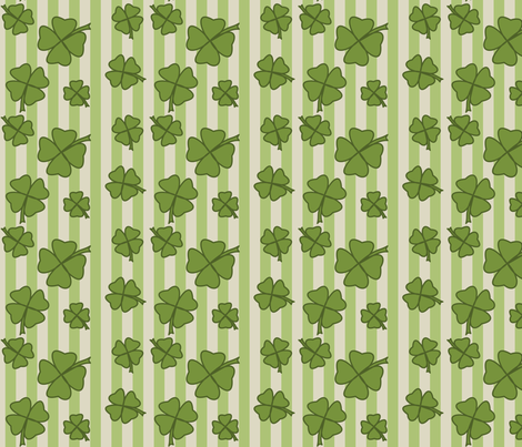 Clovers 001 fabric by lowa84 on Spoonflower - custom fabric