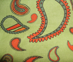 Paisley on Light Green