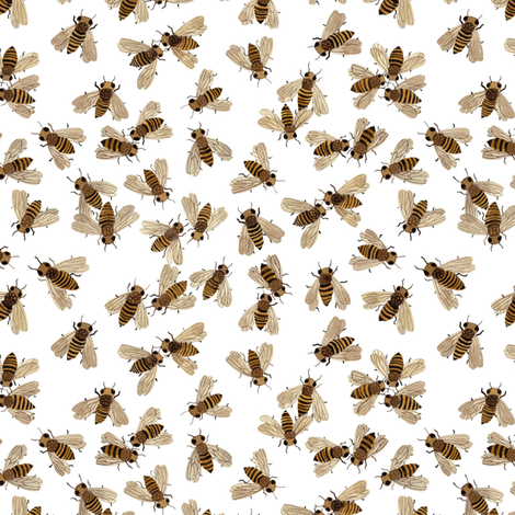 Honeybees fabric by gollybard on Spoonflower - custom fabric