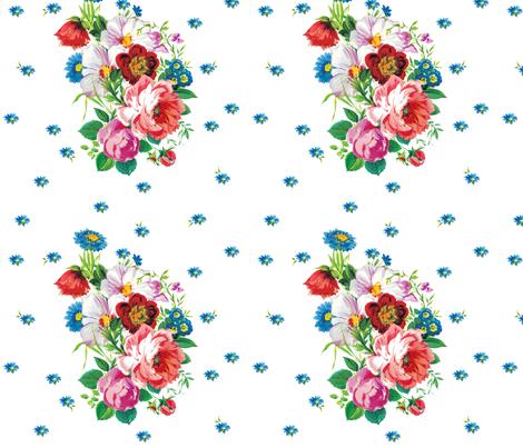 Swedish Bouquet fabric by lilyoake on Spoonflower - custom fabric