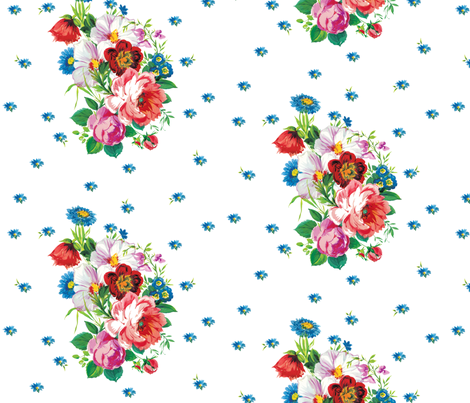 Swedish Bouquet fabric by lilyoake on Spoonflower - custom fabric