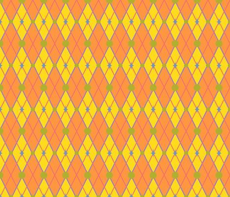 GoGirlArgyle-OrangeYellow fabric by tammikins on Spoonflower - custom fabric