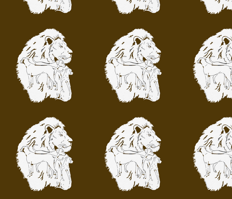 LionDogsRV fabric by justridgebacks on Spoonflower - custom fabric