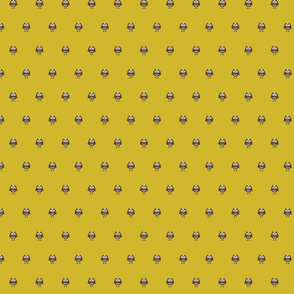 Kawaii Cute Mustard Owl Print Preppy Fabric