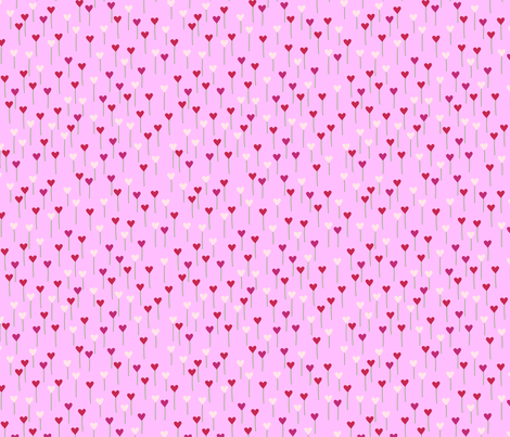 HeartFlowers fabric by lauriewisbrun on Spoonflower - custom fabric