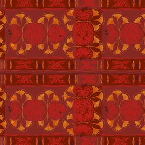 Papyrus Red Tiki Plaid  fabric by wren_leyland on Spoonflower - custom fabric