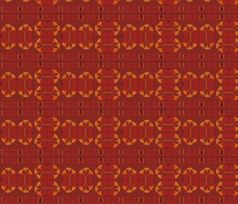 Papyrus Tiki Plaid  fabric by wren_leyland on Spoonflower - custom fabric