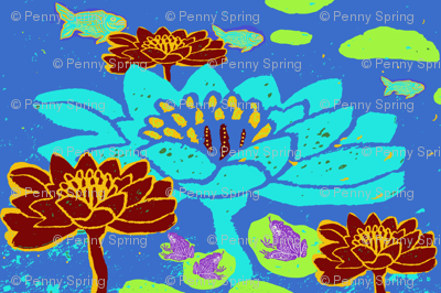 Repeat Blue Lily Pond