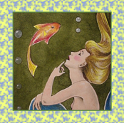 Mermaid and Fishy Friend