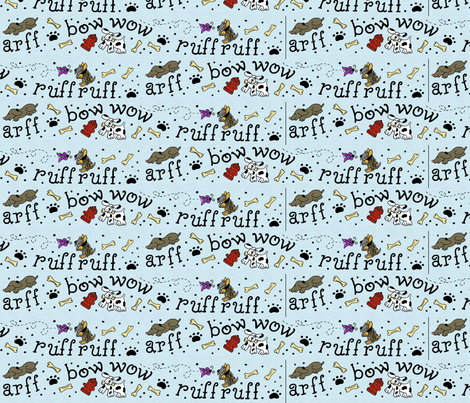 dog_border fabric by zombiebydesign on Spoonflower - custom fabric