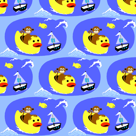 monkey island  boating fabric by paragonstudios on Spoonflower - custom fabric
