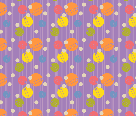 SpotOn-Purple fabric by tammikins on Spoonflower - custom fabric