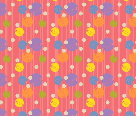 SpotOn-Pink fabric by tammikins on Spoonflower - custom fabric