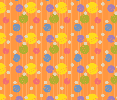 SpotOn-Orange fabric by tammikins on Spoonflower - custom fabric