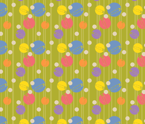 SpotOn-Green fabric by tammikins on Spoonflower - custom fabric