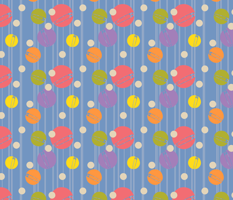 SpotOn-Blue fabric by tammikins on Spoonflower - custom fabric