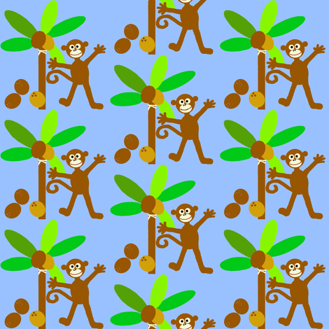 monkey island / coconuts fabric by paragonstudios on Spoonflower - custom fabric