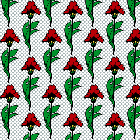 Red Flowers fabric by siya on Spoonflower - custom fabric