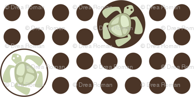 If By Ocean - Beach Block Coordinate, Turtle Dot