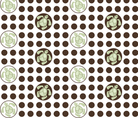 If By Ocean - Beach Block Coordinate, Turtle Dot fabric by ttoz on Spoonflower - custom fabric