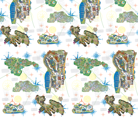 Childhood maps to my dreams fabric by tracydb70 on Spoonflower - custom fabric