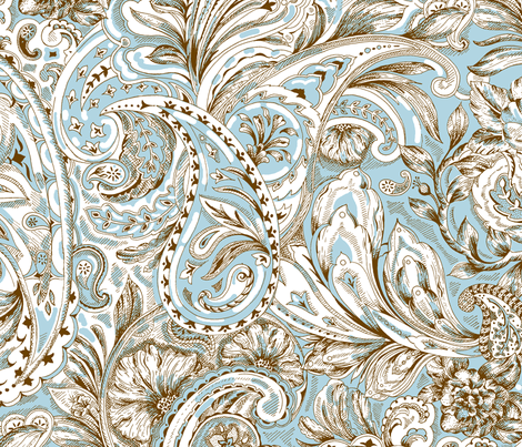 Paisley - Blue fabric by jane_kriss on Spoonflower - custom fabric