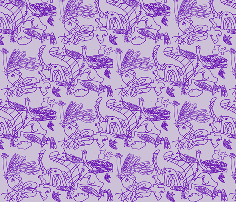 Matthew and the purple crayon fabric by quinnanya on Spoonflower - custom fabric