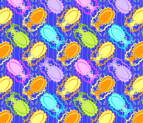 Colorful Squid World fabric by kdl on Spoonflower - custom fabric