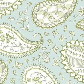 Pretty Paisley - Celery