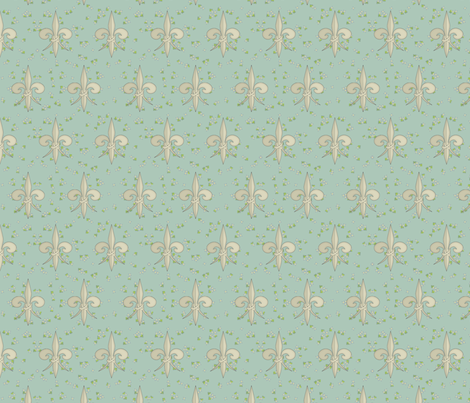 ©2011 fleurdelis 105 fabric by glimmericks on Spoonflower - custom fabric