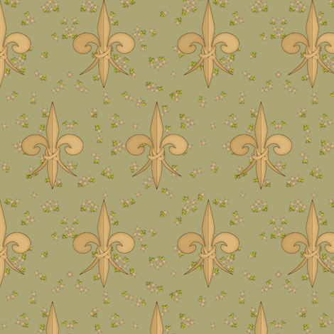 ©2011 fleurdelis 106 fabric by glimmericks on Spoonflower - custom fabric