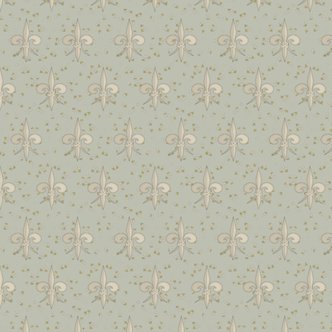 ©2011 fleurdelis 108 fabric by glimmericks on Spoonflower - custom fabric