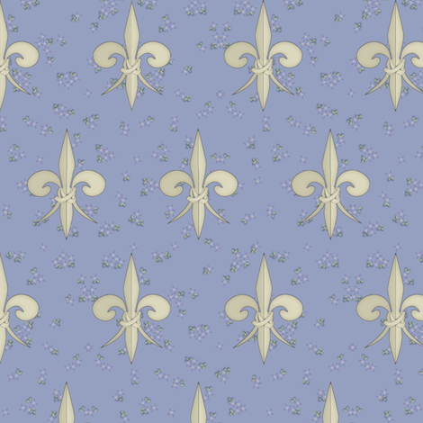 ©2011 fleurdelis 109 fabric by glimmericks on Spoonflower - custom fabric